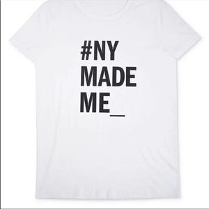 DKNY White New York Made Me t-shirt size S/M